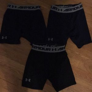Navy/Black Under Armour Compression Short 3-Pack